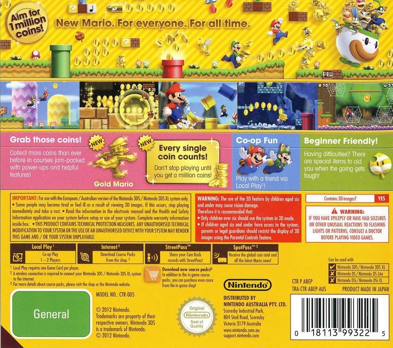 New Super Mario Bros. 2 3DS backHQ (ABEP)
