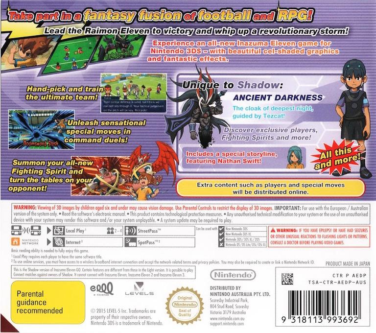 Inazuma Eleven Go - Shadow 3DS backHQ (AEDP)