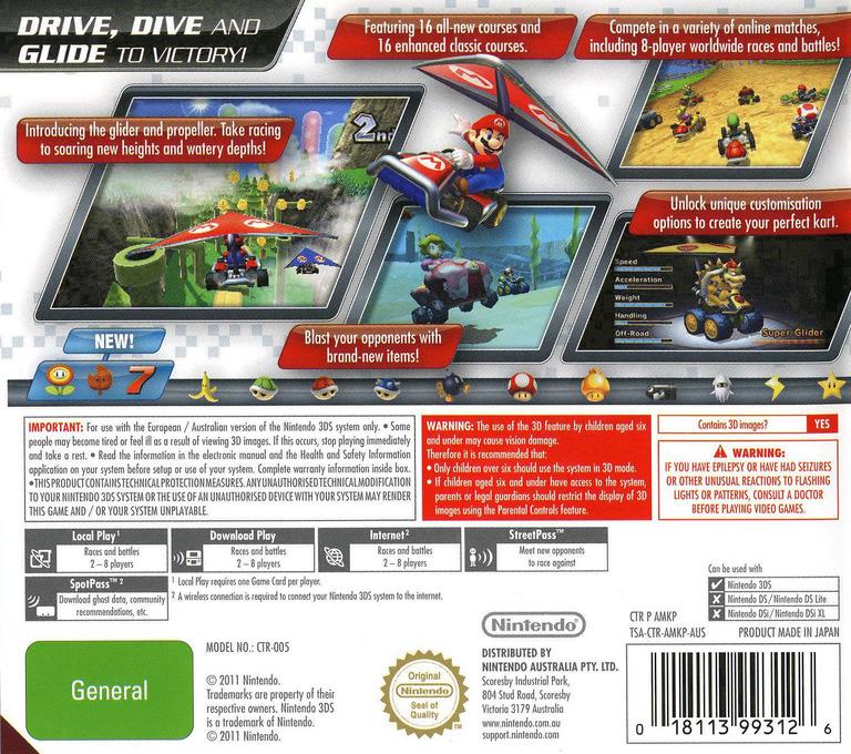 Mario Kart 7 3DS backHQ (AMKP)