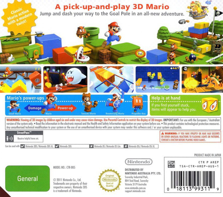 Super Mario 3D Land 3DS backHQ (AREP)