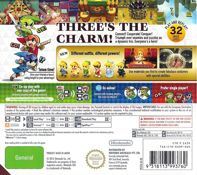 The Legend of Zelda - Tri Force Heroes 3DS backHQ (EA3P)