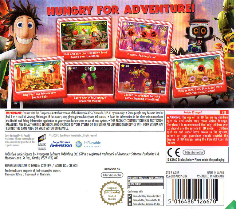 Cloudy with a Chance of Meatballs 2 3DS backHQ (AD5P)