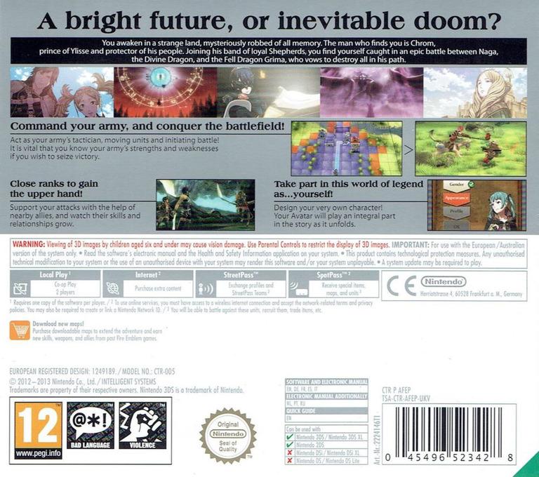 Fire Emblem - Awakening 3DS backHQ (AFEP)