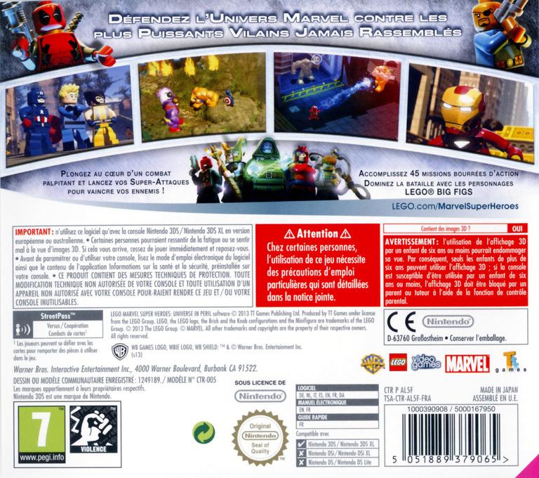 LEGO Marvel Super Heroes - Universe in Peril 3DS backHQ (AL5F)