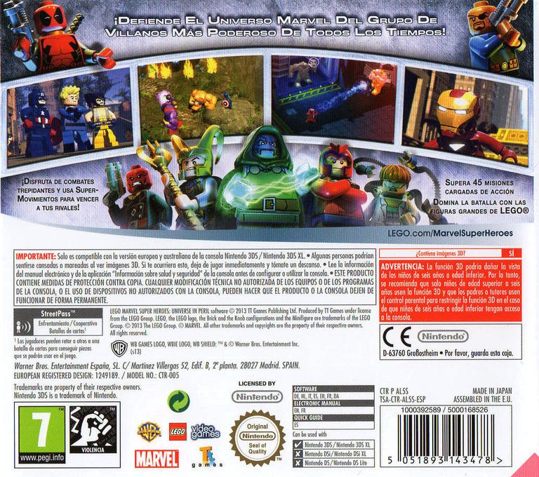 LEGO Marvel Super Heroes - Universe in Peril 3DS backHQ (AL5S)