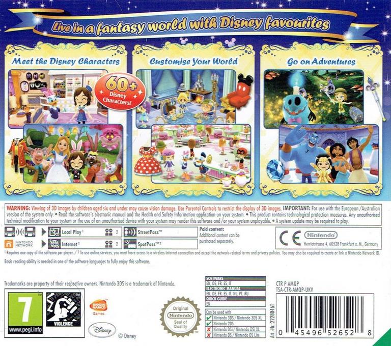 Disney Magical World 3DS backHQ (AMQP)