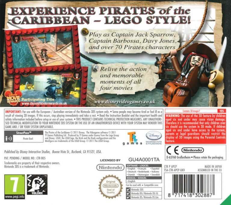 LEGO Pirates of the Caribbean - The Video Game 3DS backHQ (APCP)