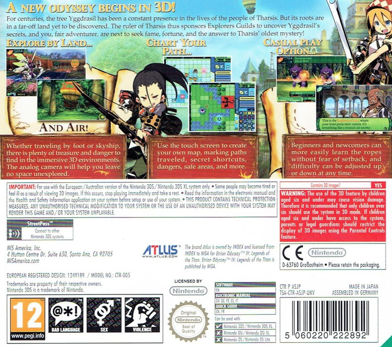 Etrian Odyssey IV - Legends of the Titan 3DS backHQ (ASJP)