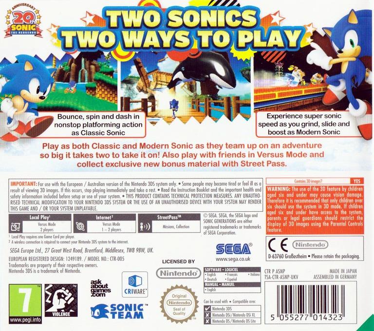Sonic Generations 3DS backHQ (ASNP)
