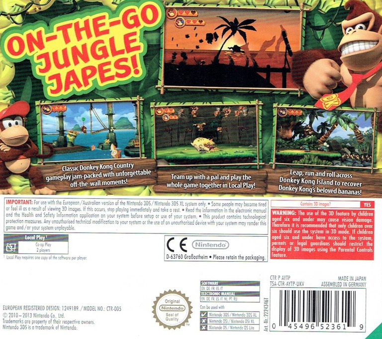 Donkey Kong Country Returns 3D 3DS backHQ (AYTP)