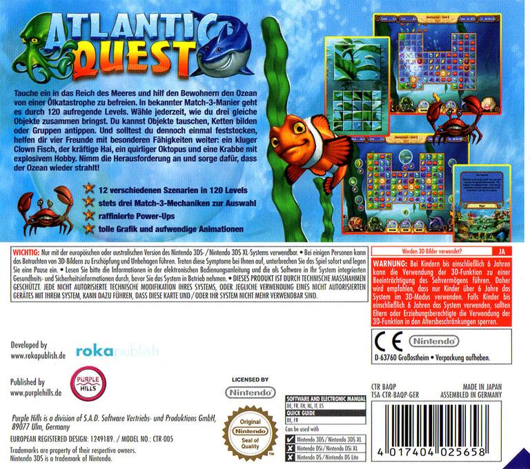 Atlantic Quest 3DS backHQ (BAQP)