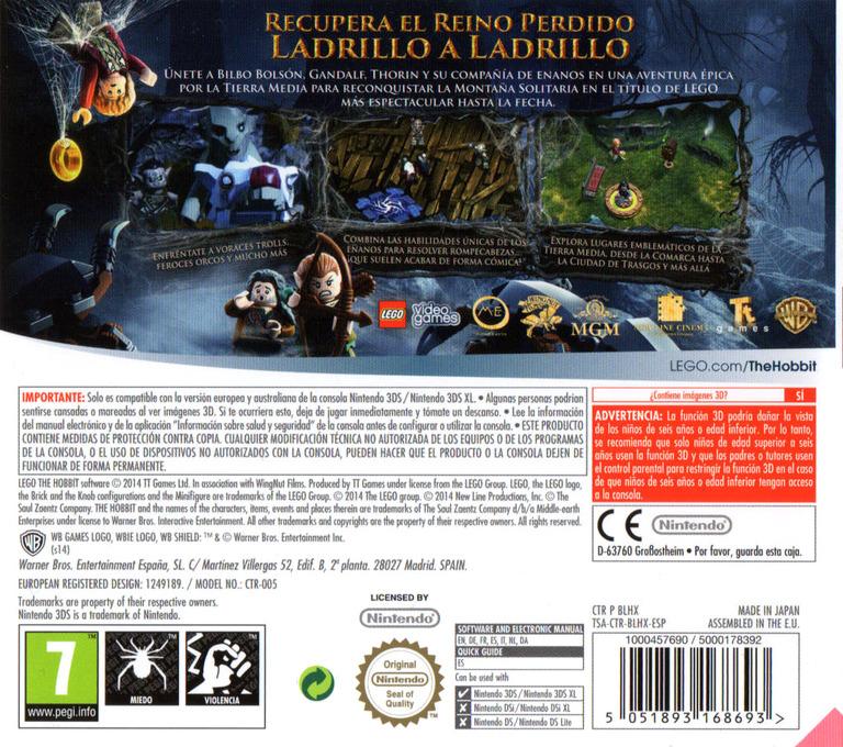LEGO The Hobbit 3DS backHQ (BLHX)