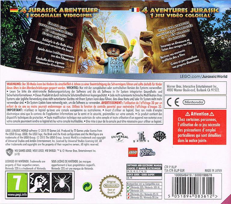 LEGO Jurassic World 3DS backHQ (BLJP)