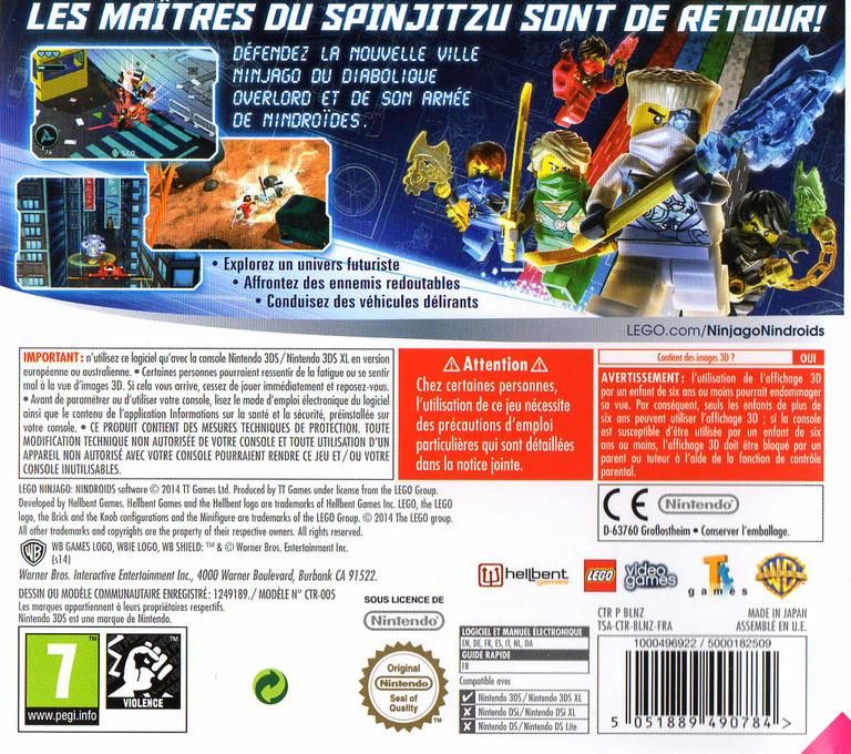 LEGO Ninjago - Nindroids 3DS backHQ (BLNZ)