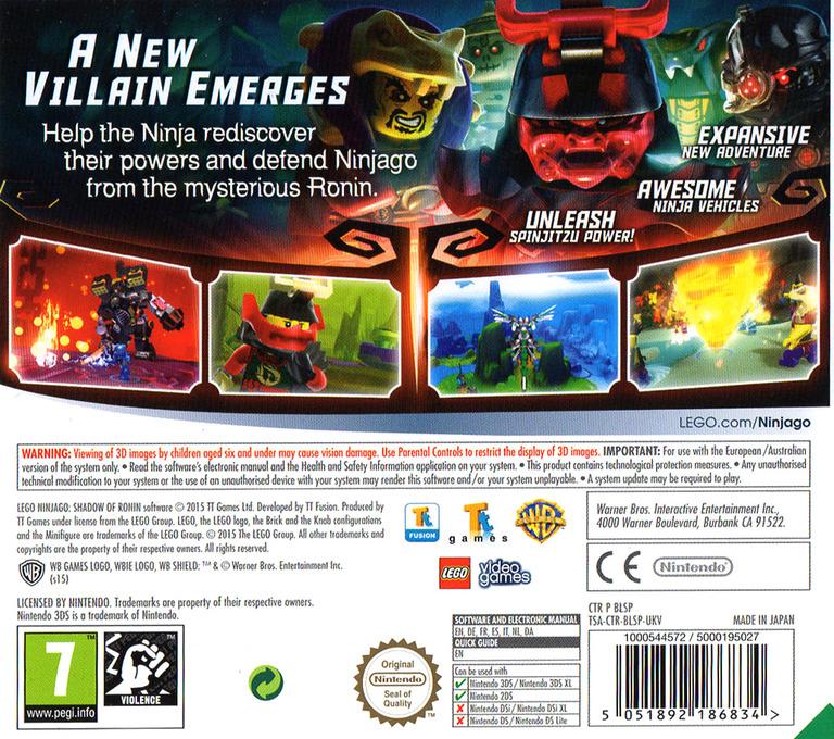 LEGO Ninjago - Shadow of Ronin 3DS backHQ (BLSP)