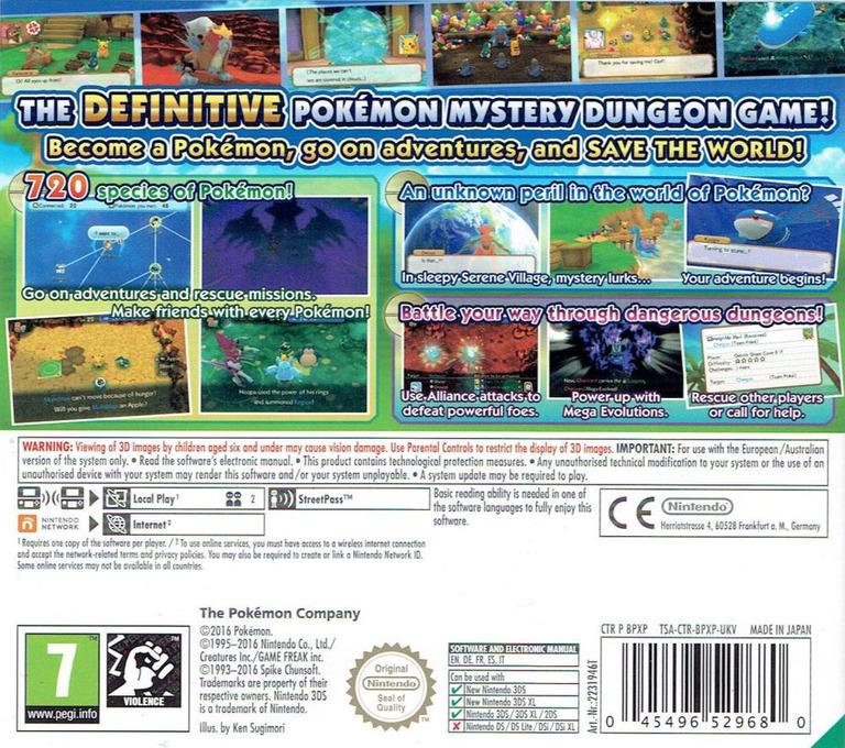 Pokémon Super Mystery Dungeon 3DS backHQ (BPXP)