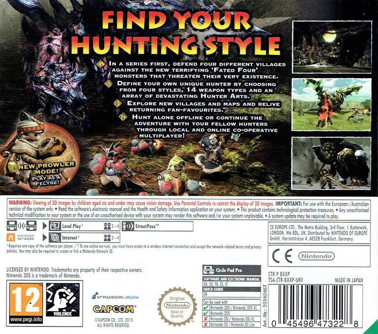 Monster Hunter Generations 3DS backHQ (BXXP)