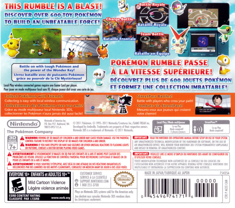 Pokémon Rumble Blast 3DS backHQ (ACCE)