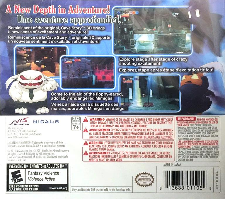 Cave Story 3D 3DS backHQ (ACVE)