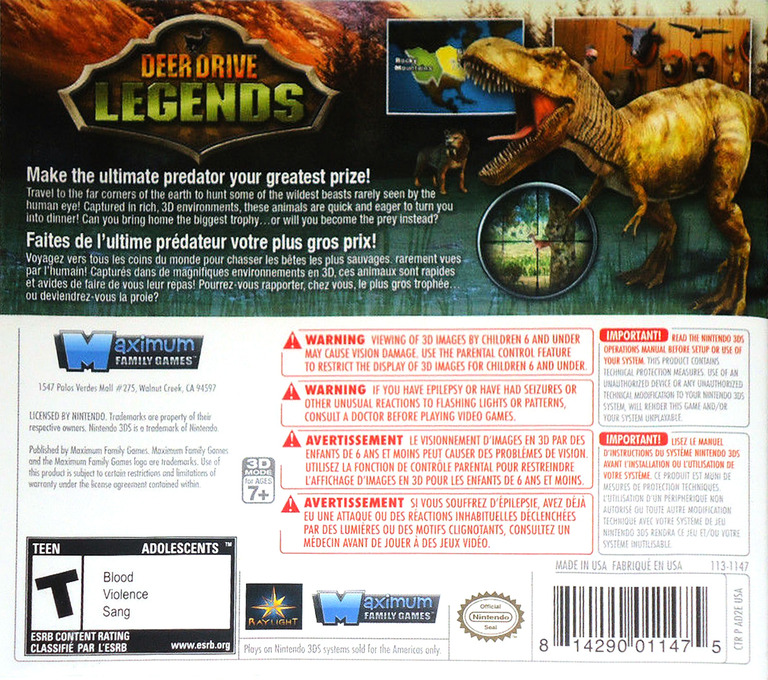 Deer Drive Legends 3DS backHQ (AD2E)