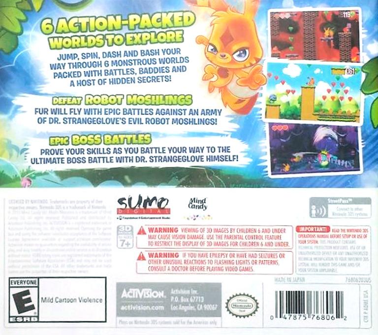 Moshi Monsters - Katsuma Unleashed 3DS backHQ (ADME)