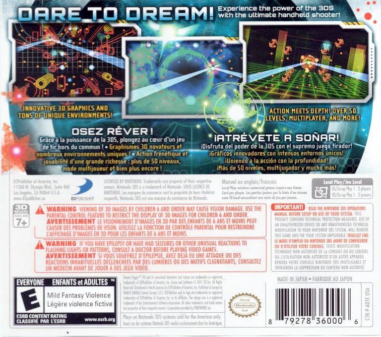 Dream Trigger 3D 3DS backHQ (ADTE)