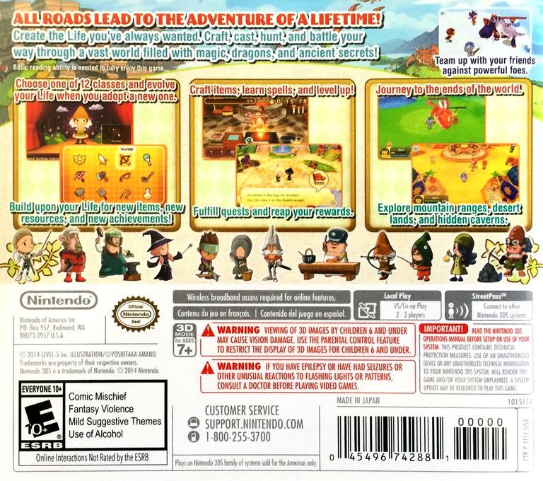 Fantasy Life 3DS backHQ (AFLE)