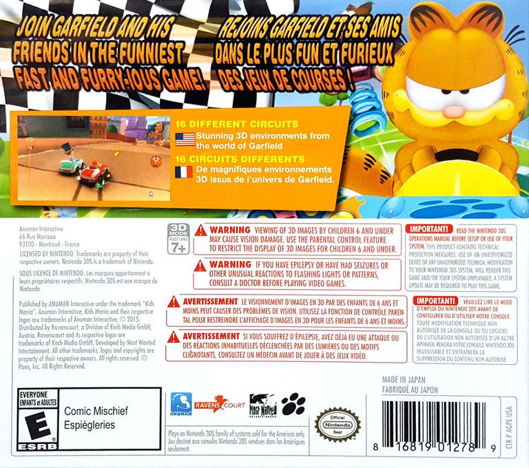 Garfield Kart 3DS backHQ (AGPE)
