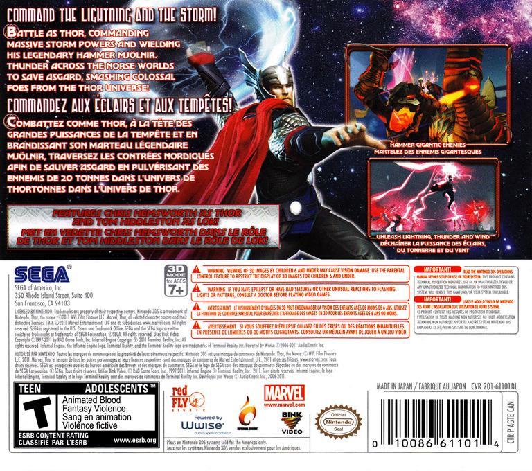 Thor - God of Thunder 3DS backHQ (AGTE)