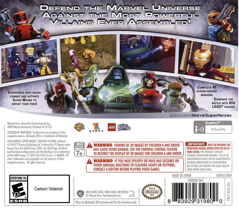 LEGO Marvel Super Heroes - Universe in Peril 3DS backHQ (AL5E)