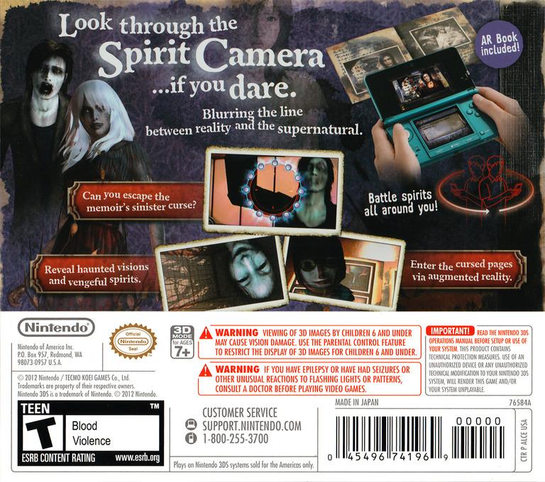 Spirit Camera - The Cursed Memoir 3DS backHQ (ALCE)