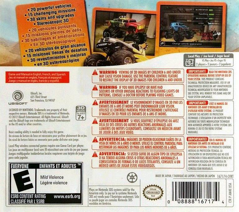 Monster 4x4 3D 3DS backHQ (AM4E)