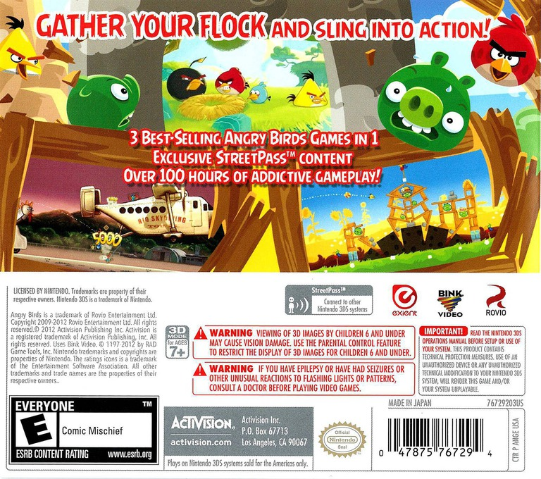 Angry Birds Trilogy 3DS backHQ (ANGE)