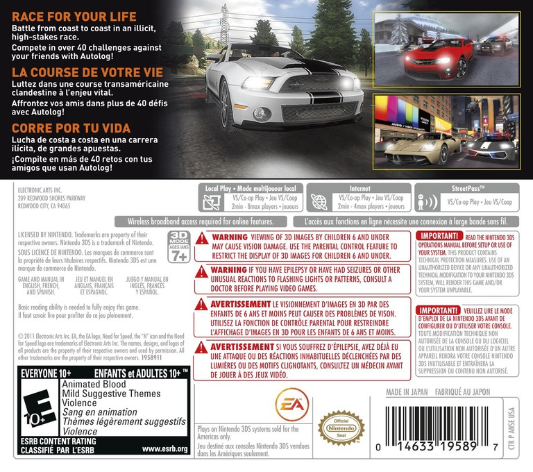 Need for Speed - The Run 3DS backHQ (ANSE)