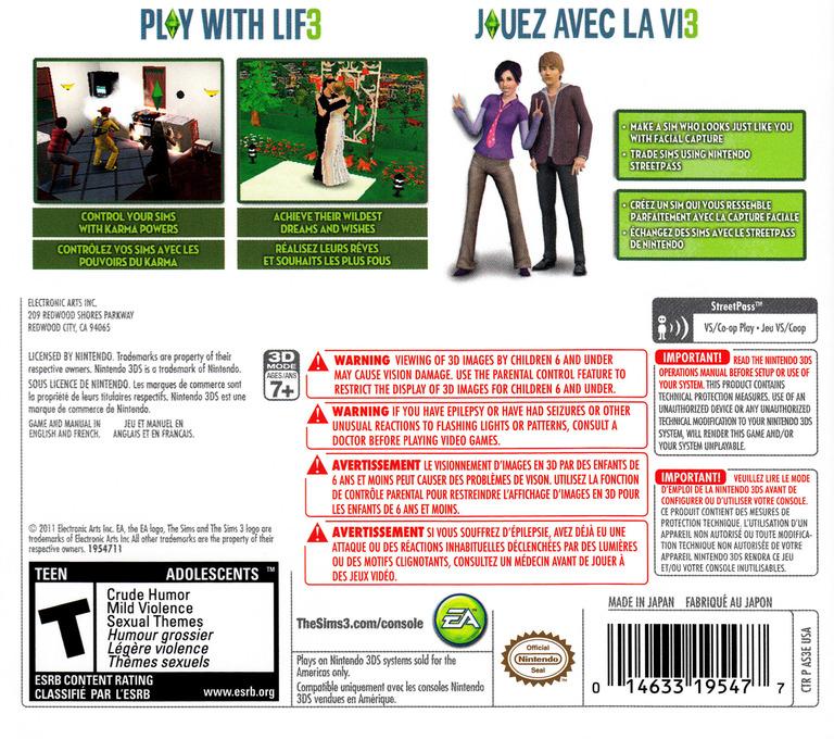 The Sims 3 Array backHQ (AS3E)