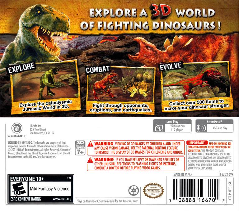 Combat of Giants - Dinosaurs 3D 3DS backHQ (ATTE)