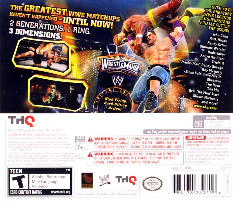 WWE All Stars 3DS backHQ (AWEE)