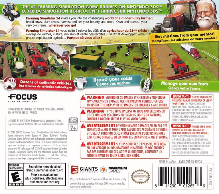 Farming Simulator 14 3DS backHQ (BFSE)