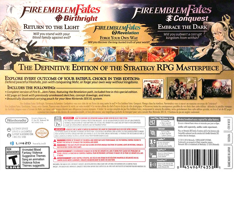 Fire Emblem - Fates Special Edition 3DS backHQ (BFZE)