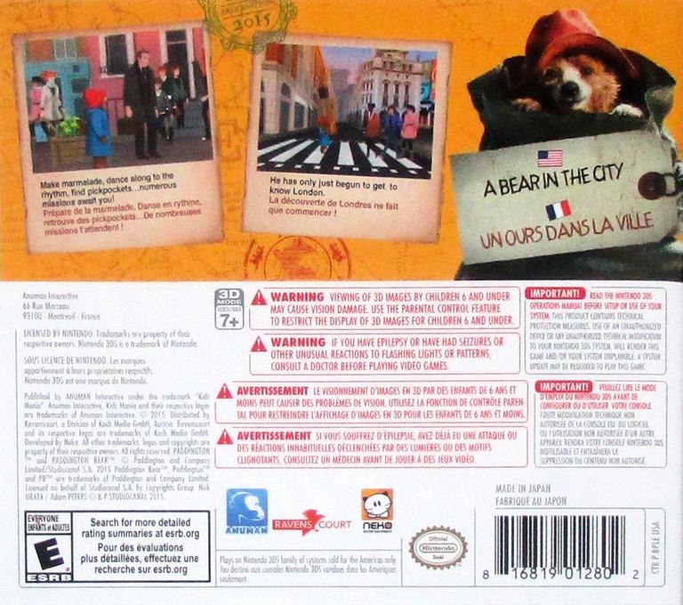 Paddington - Adventures in London 3DS backHQ (BPLE)