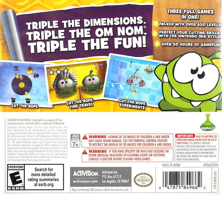 Cut the Rope - Triple Treat 3DS backHQ (BR3E)