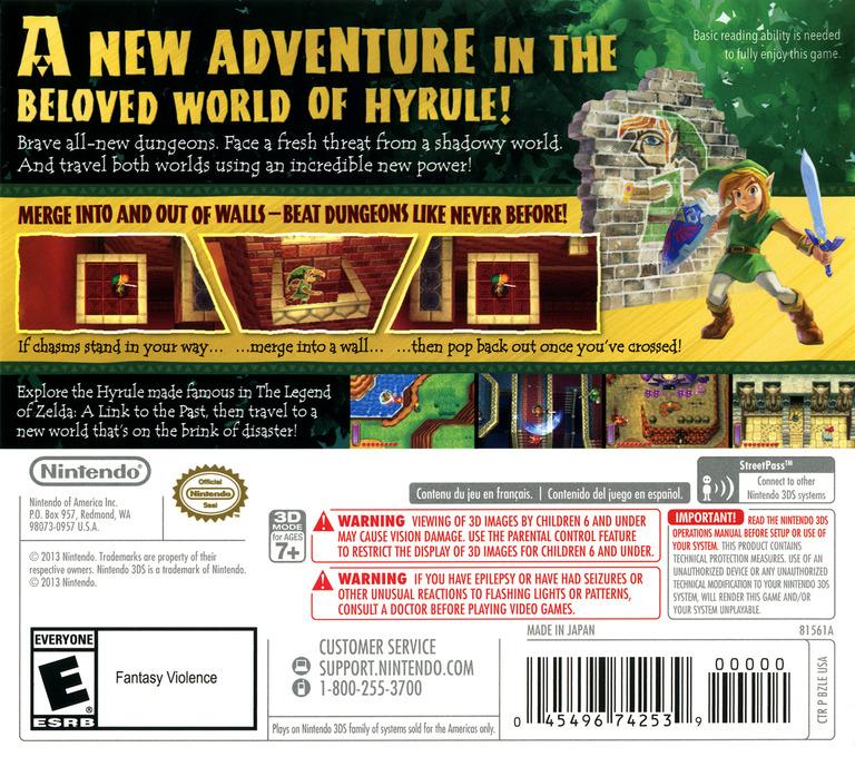The Legend of Zelda - A Link Between Worlds 3DS backHQ (BZLE)