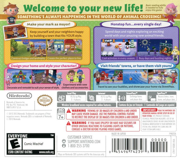 Animal Crossing - New Leaf Array backHQ (EGDE)