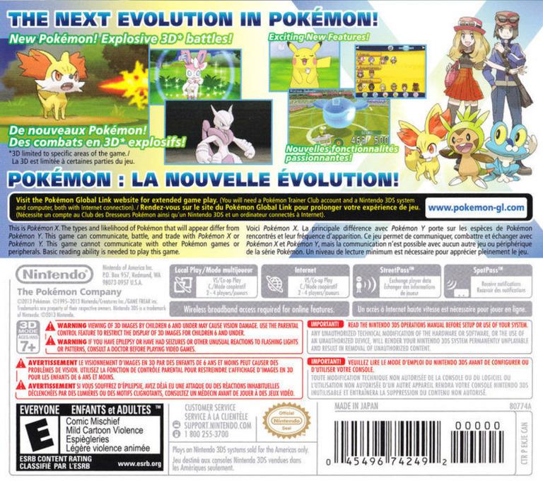 Pokémon X 3DS backHQB2 (EKJE)
