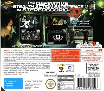 Tom Clancy's Splinter Cell 3D 3DS backM (ASCP)