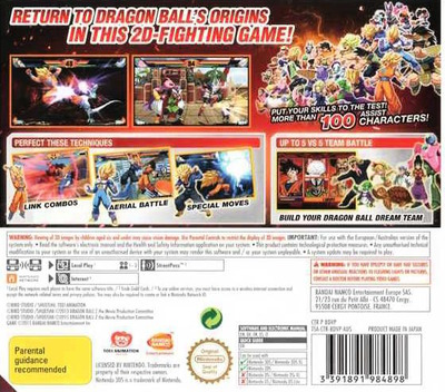 Dragon Ball Z - Extreme Butoden 3DS backM (BDVP)