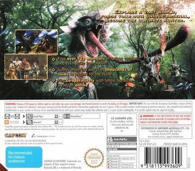 Monster Hunter 4 Ultimate 3DS backM (BFGP)