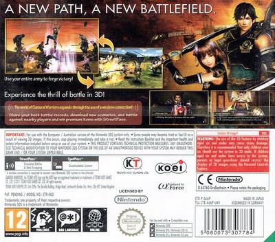 Samurai Warriors - Chronicles 3DS backM (A66P)