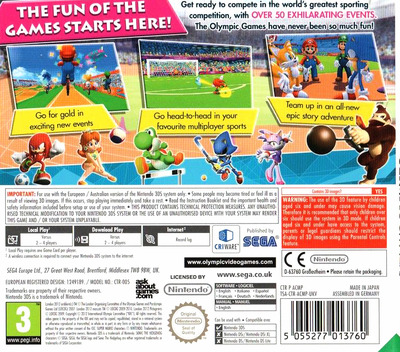 Mario & Sonic at the London 2012 Olympic Games 3DS backM (ACMP)