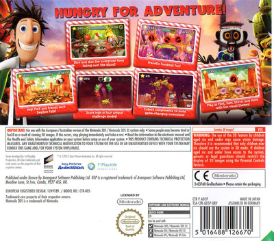 Cloudy with a Chance of Meatballs 2 3DS backM (AD5P)